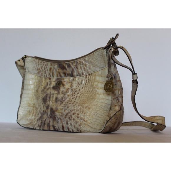 Brahmin Bags   Tan Brown Croc Purse Shoulder Bag   Poshmark 124909b9b6